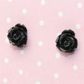 1 Paar Stekertjes Roosje Zwart