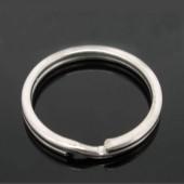 Split / Sleutelring - donker zilver
