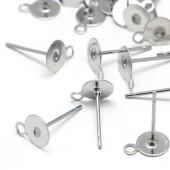 Oorbel Plakstekertjes / Plakvlak 4 mm