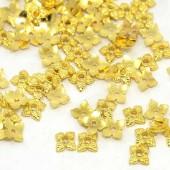 50x Kralenkapjes goudkleurig