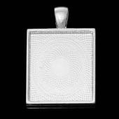 Bedelhanger licht Zilver vierkant