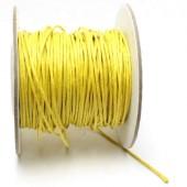 Wax Koord Katoen per meter Geel
