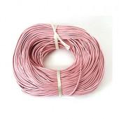 1 Meter Roze Lederen veter