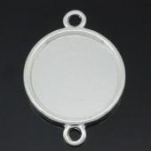 1x Connector 20 mm licht zilver