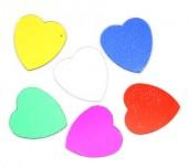 200 stuks Pailletten hartje (zonder gaatjes)