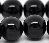Snoertje Glasparel 8 mm Zwart