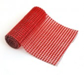 Glitter Matje Rood 12 x 90 cm