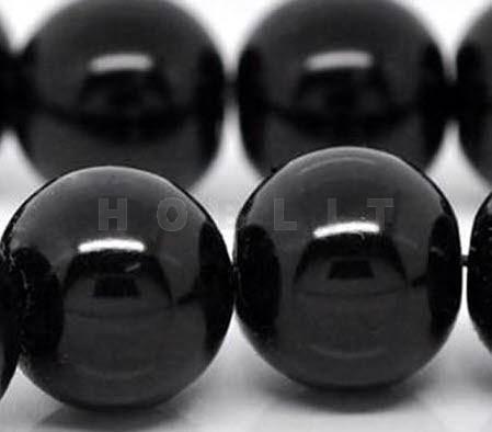 Snoertje Glasparels 4 mm Zwart