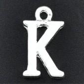 "1x Bedel lichtzilver - letter ""K"""