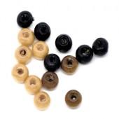 200 pcs wooden bead mix