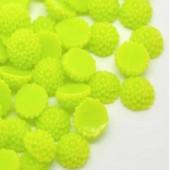 Cabochon chrysant Lime Groen