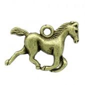 1x Bedeltje Paard Brons
