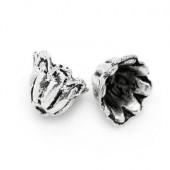20x Kapjes Donker zilver 5 mm