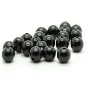 50x Glanzende Acryl kraal Zwart