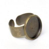 Ring Cabochonhouder Brons
