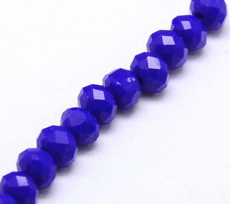 Snoertje Facet Chrystal Solide Blauw
