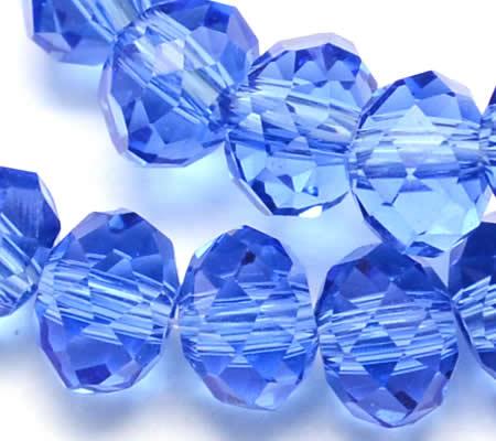 Snoertje 100 stuks Facet Donker Lila/Blauw