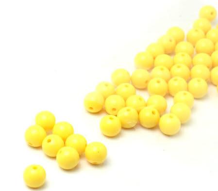 50x Glanzende Kraal Geel 8 mm