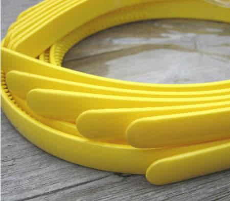 1x acryl diadeem geel 8 mm