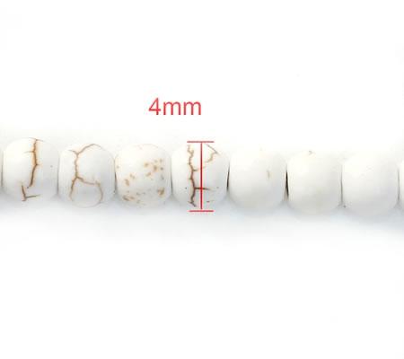 100 stuks Howliet Kraal gebroken wit 4 mm