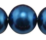 Snoertje Glasparels 4 mm Donker Blauw