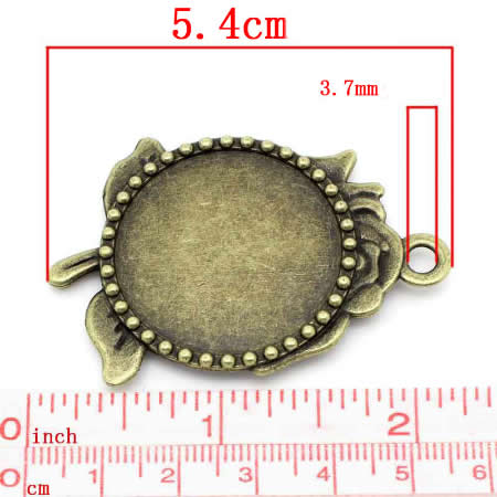 Cabochonhanger Brons 30mm
