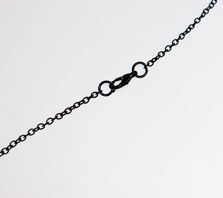 1x Ketting gitzwart 61 cm