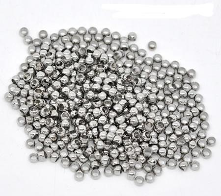 Knijpkralen Donker zilver 3.5 mm
