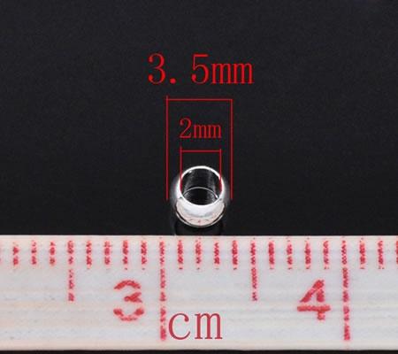 50 stuks Knijpkralen lichtzilver 3.5 mm
