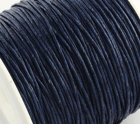 1 Meter Wax Koord Katoen Donker Blauw