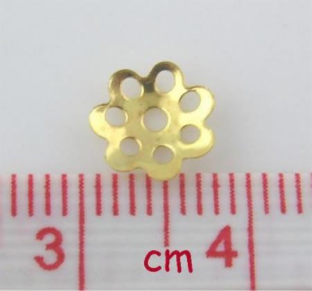 100x Kralenkapjes Goudkleurig (dun) 8 mm