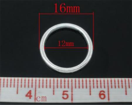 5x Gesloten Ring Donker Zilver