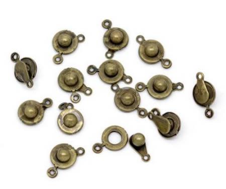 5x Bronzen Klikslotjes