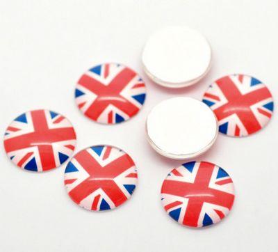 Glazen cabochon Engelse Vlag