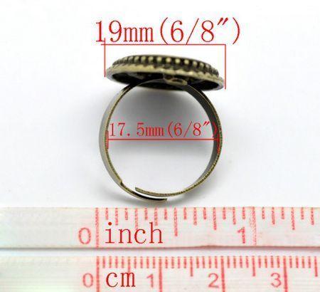 1x Cabochon ring Brons