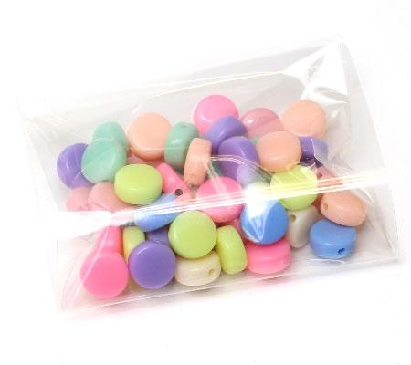50 stuks pastel disc kraaltjes mix