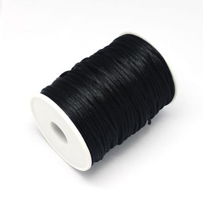 1 Meter nylon soepel vallend koord Zwart