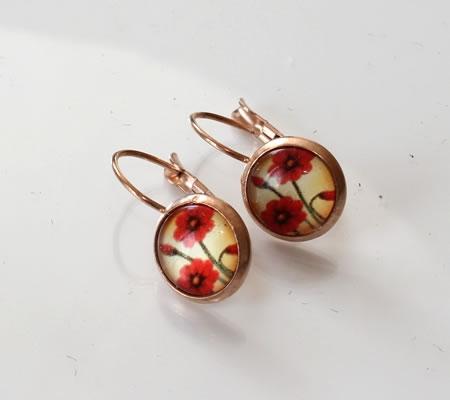 1 Paar oorbelletjes Rosegold