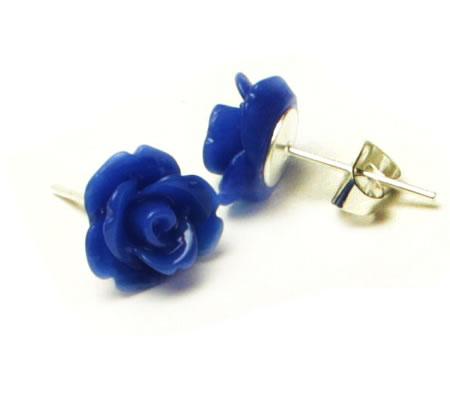 1 Paar Stekertjes Roosje Donker Blauw