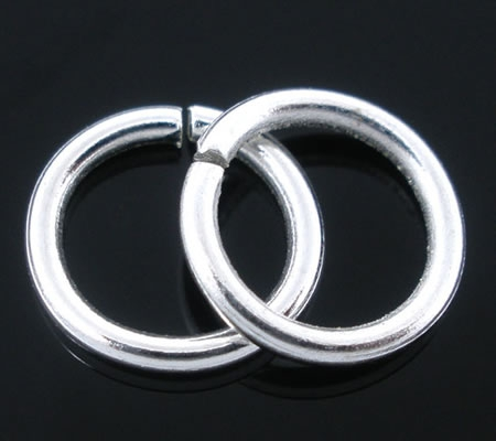 100x Open ring Lichtzilver 9 mm