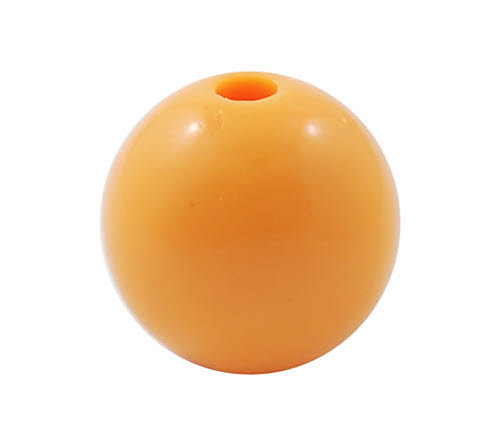 50x Glanzende Acryl kraal Licht Oranje