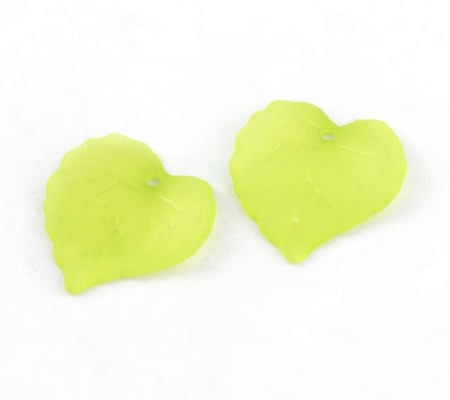 50x Acryl Frosted blaadjes Lime
