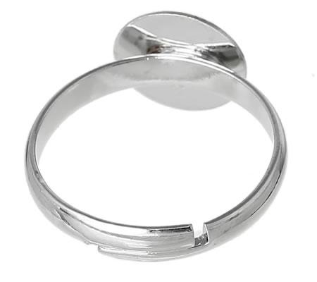 1 stuks plakring Donker zilver