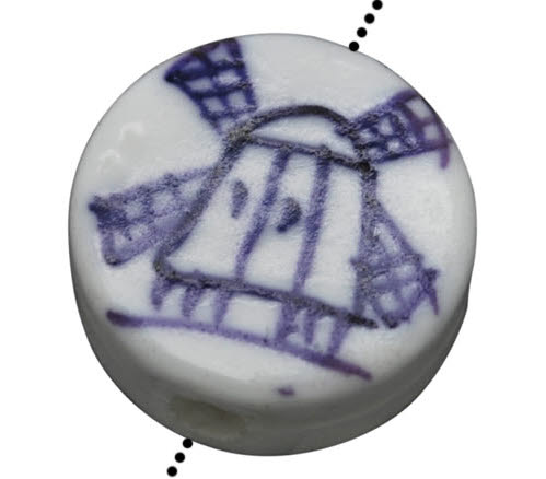 1x kraal Porcelein disc