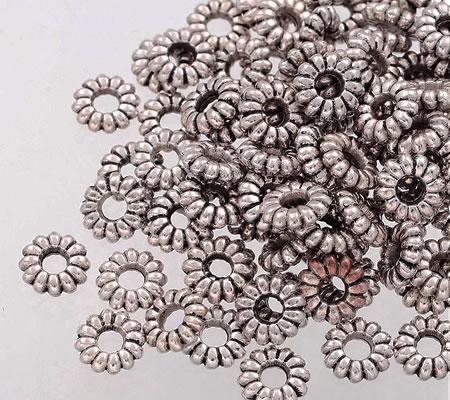20 stuks rondel donker zilver