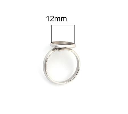 1x Cabochon Ring RVS