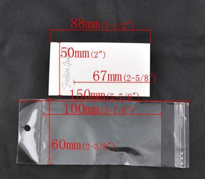 10 x Verpakking voor Oorbellen wit
