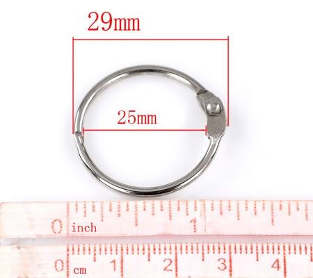 Scharnier - Sleutelhanger donker zilver 29 mm