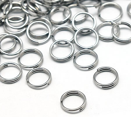 50x Splitring RVS 5 mm