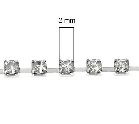 50 cm Rhinestone ketting/band 2 mm